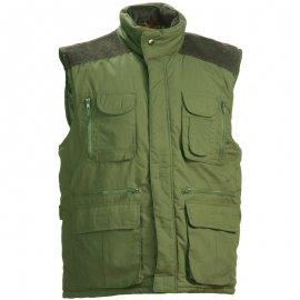 BRESSAN zateplená zelená vesta  5BREV
