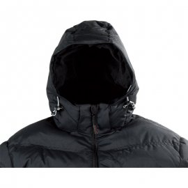 NORSK čierna bunda  5NORS kapucňa