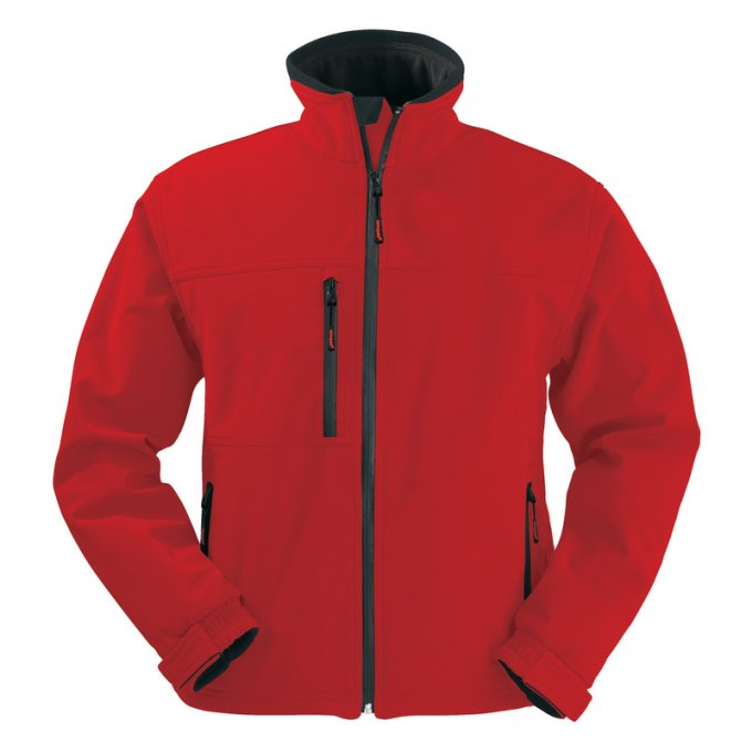 YANG červená softshell bunda  5YANR