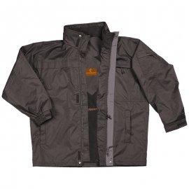 POLE EQUATEUR čierný kabát  5EQUP