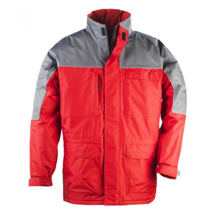 RIPSTOP kabát červeno/sivý  5RIPR