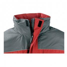RIPSTOP kabát červeno/sivý  5RIPR detail golier