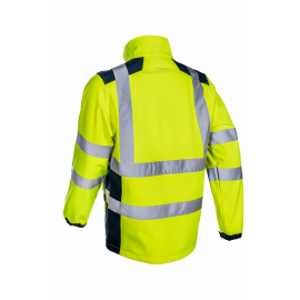 KANPA softshell reflexná bunda žltá  5KPA16