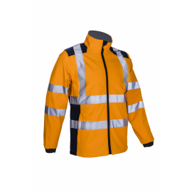KANPA softshell reflexná bunda oranžová  5KPA17