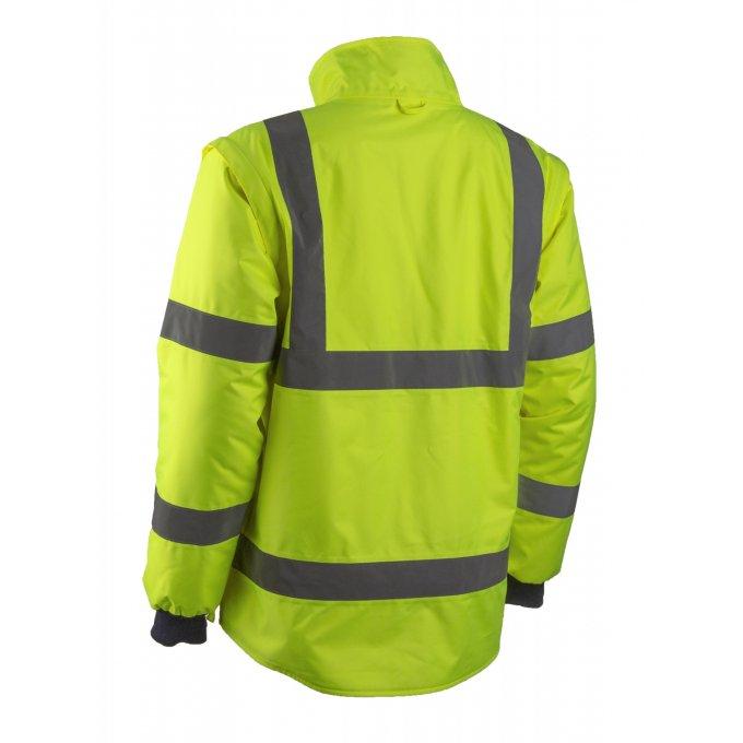 KAZAN 2v1 žltá reflexná bunda  5KAJ16