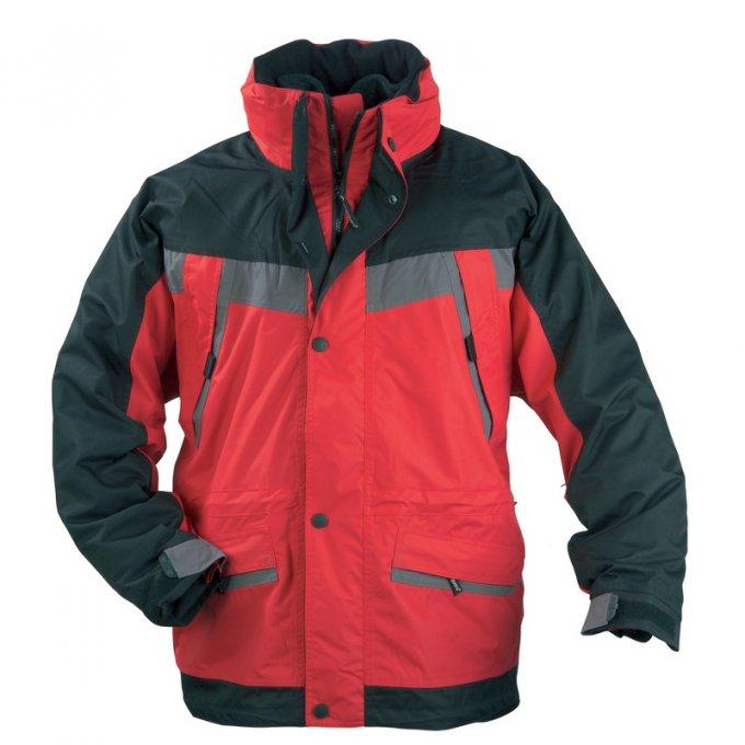 ICEBERG červeno/čierný kabát 3v1  5ICEB