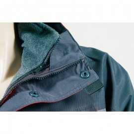 ICEBERG červeno/čierný kabát 3v1  5ICEB detail golier