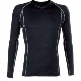 BODYWARMER čierne tričko dlhý rukáv  5BOBT