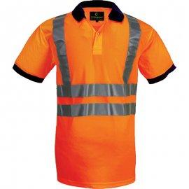 YARD reflexná polokošeľa oranžová  70280-283