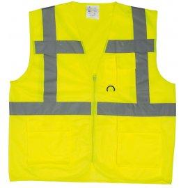 YARD reflexná vesta s vreckami žltá  7YGMY