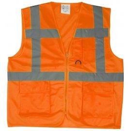 YARD reflexná vesta s vreckami oranžová  7YGMO