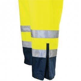 AIRPORT PU/PU nepremokavé nohavice žlto/modré  7AITY rozšírenie