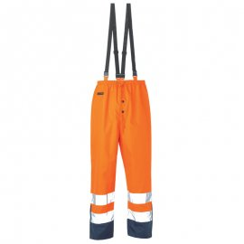 AIRPORT PE/PU nepremokavé nohavice oranžovo/modré  7AITO