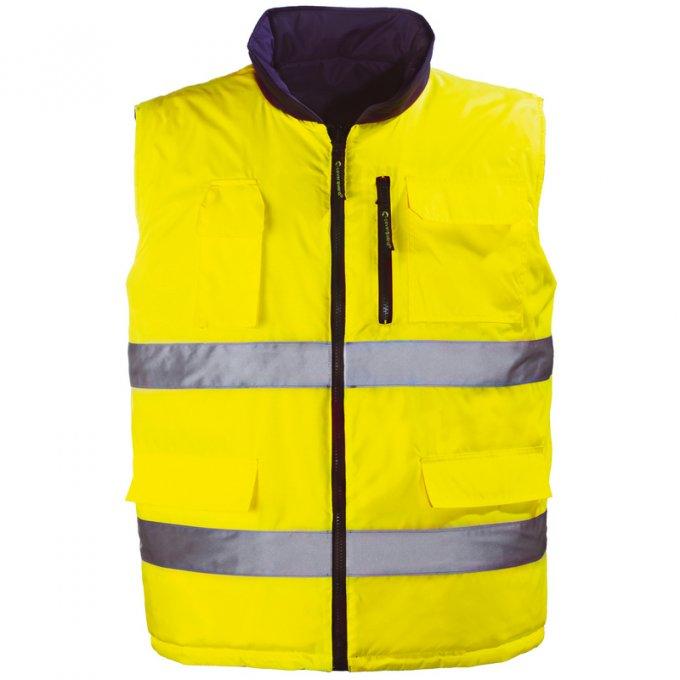 HI-WAY obojstranná vesta žltá  7HWGY
