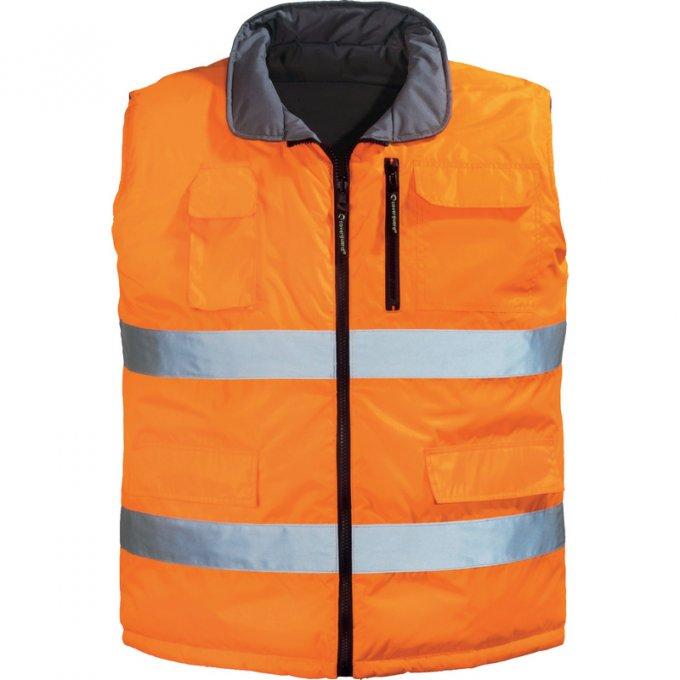HI-WAY obojstrnná vesta oranžová  7HWGO