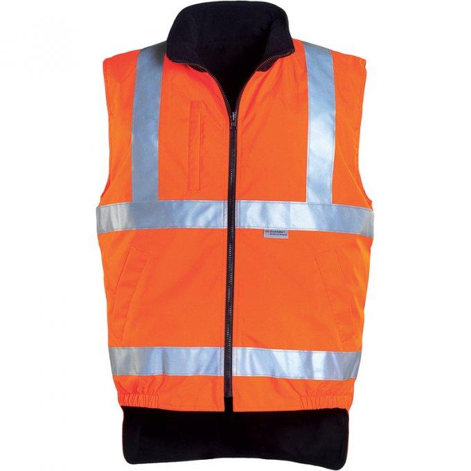 HI-WAY obojstranná vesta oranžová  70510-514