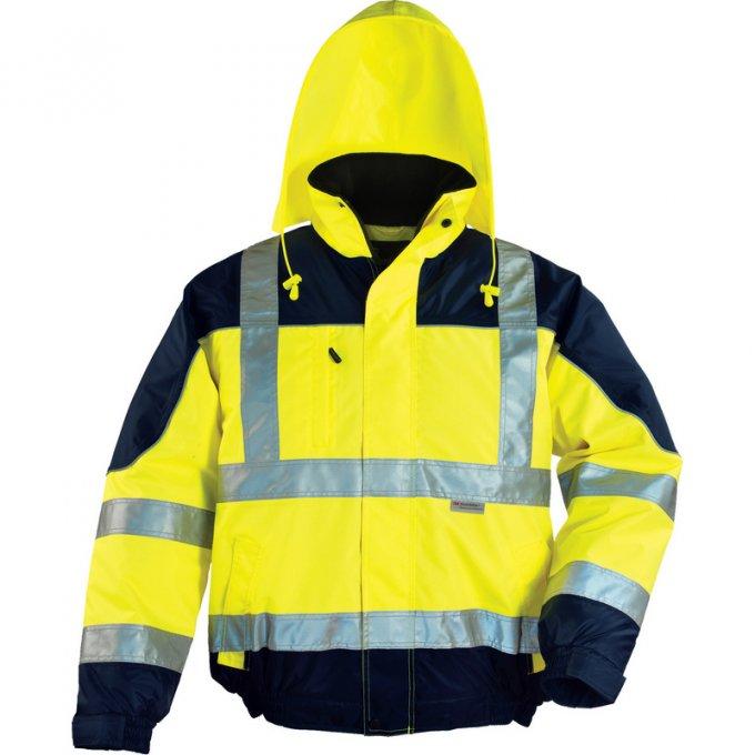 AIRPORT reflexná bunda žlto/modrá  7AIBY