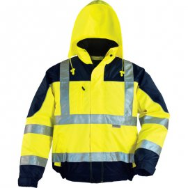 AIRPORT reflexná bunda žlto/modrá  7AIBY kapucňa
