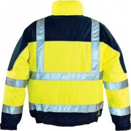 AIRPORT reflexná bunda žlto/modrá  7AIBY chrbát