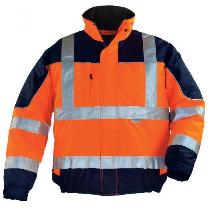 AIRPORT reflexná bunda oranžovo/modrá  7AIBO
