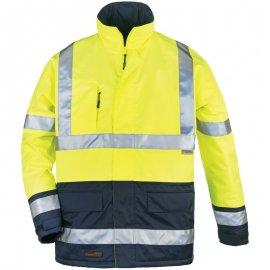 AIRPORT reflexný kabát žlto/modrý  7AIPY