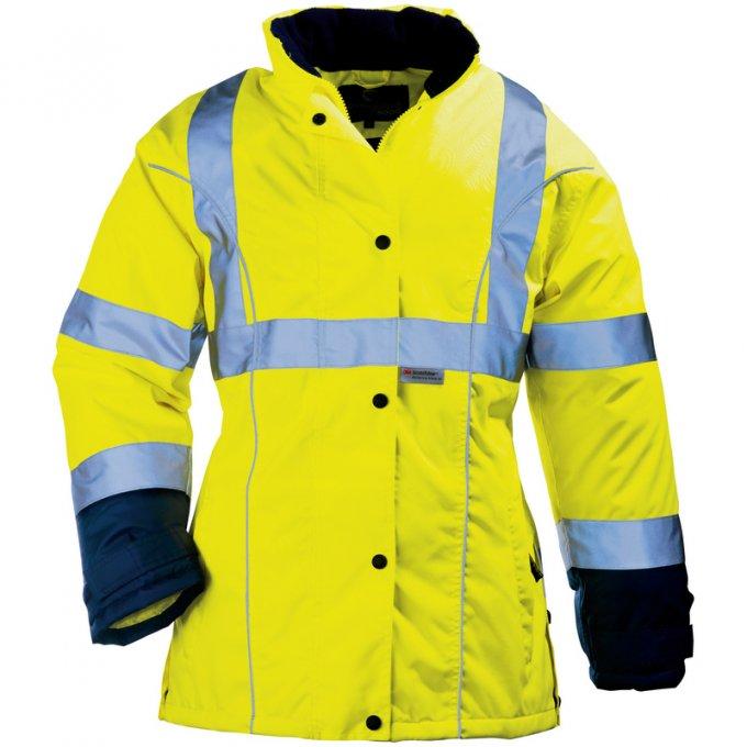 AIRPORT LADY reflexný kabát dámsky žltý  7AILY