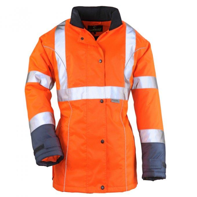 AIRPORT LADY reflexný kabát dámsky oranžový  7AILO