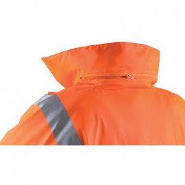 HI-WAY reflexný kabát oranžovo/modrý  70459-463 golier