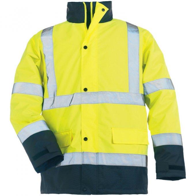 ROADWAY reflexný kabát žlto/modrý  7ROAY