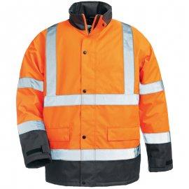 ROADWAY reflexný kabát oranžovo/modrý  7ROAO