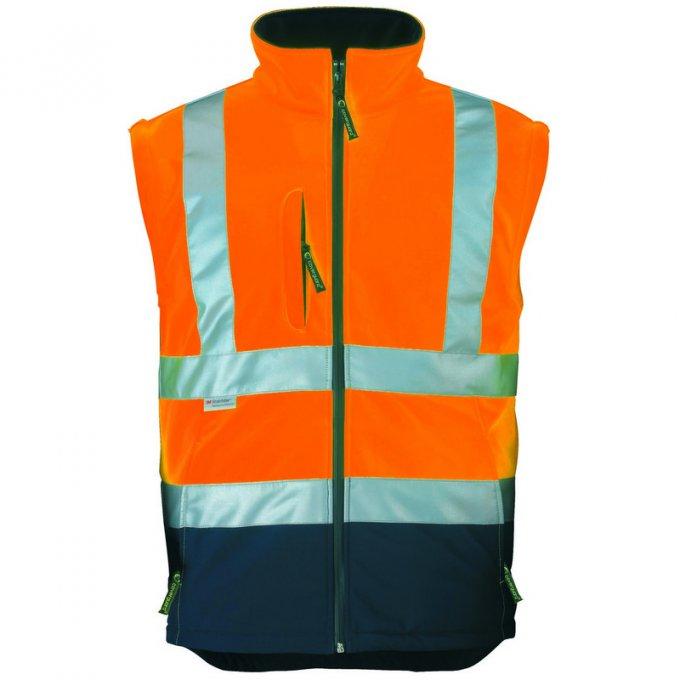 STATION Softshell® bunda 2v1 oranžovo/modrá  70639-643