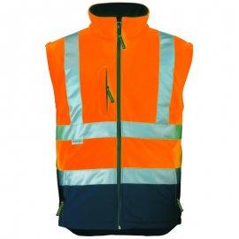 STATION Softshell® bunda 2v1 oranžovo/modrá  70639-643 vesta