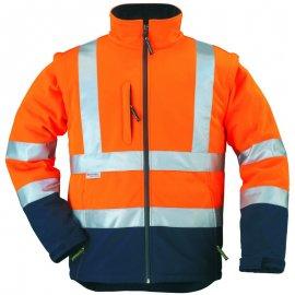 STATION Softshell® bunda 2v1 oranžovo/modrá  70639-643 bunda