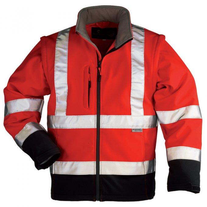 STATION Softshell® bunda 2v1 červeno/čierna  70680-683