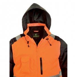 HI-WAY reflexný kabát 2v1 oranžový  7HWXO kapucňa