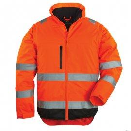 HI-WAY reflexný kabát 2v1 oranžový  7HWXO
