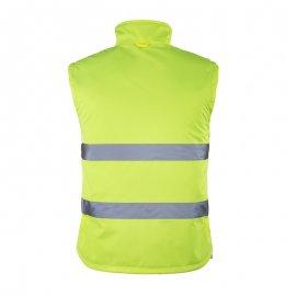 ROADWAY reflexná bunda 2v1 žltá  7ROJO zadný diel