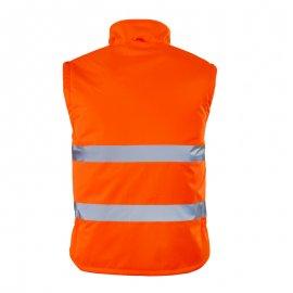 ROADWAY reflexná bunda 2v1 oranžová  7ROJO vesta zadný diel