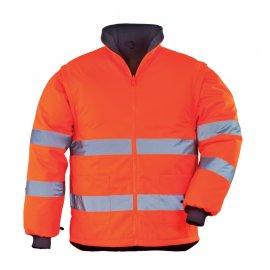 ROADWAY reflexná bunda 2v1 oranžová  7ROJO
