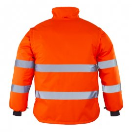 ROADWAY reflexná bunda 2v1 oranžová  7ROJO zadný diel