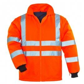 AIRPORT reflexný kabát 4v1 oranžovo/modrý  7AIFO mikina/vesta