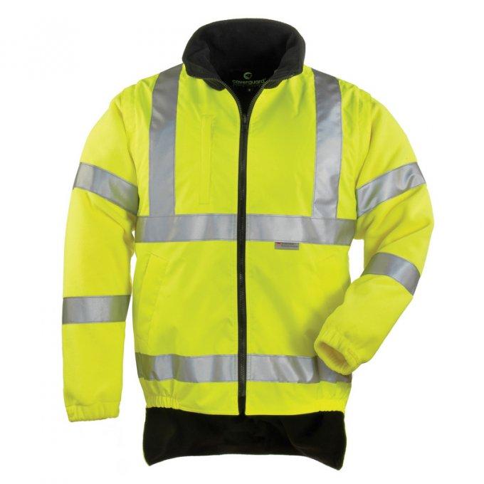 HI-WAY reflexný kabát 4v1 žlto/modrý  70548-555