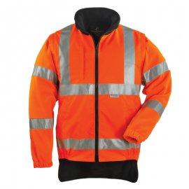 HI-WAY reflexný kabát 4v1 oranžovo/modrý  70559-565  mikina/vesta