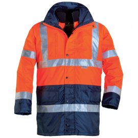 HI-WAY reflexný kabát 4v1 oranžovo/modrý  70559-565