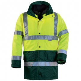 HI-WAY reflexný kabát 4v1 žlto/zelený  70570-574 kabát/vetrovka