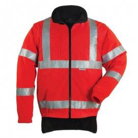 HI-WAY reflexný kabát 4v1 červeno/čierný  70579-584  mikina/vesta