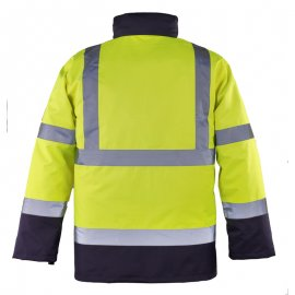 ROADWAY reflexný kabát 4v1 žlto/modrý  7ROPY