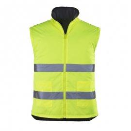 ROADWAY reflexný kabát 4v1 žlto/modrý  7ROPY vesta