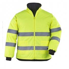 ROADWAY reflexný kabát 4v1 žlto/modrý  7ROPY bunda