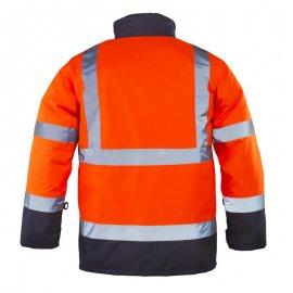 RODWAY reflexný kabát 4v1 oranžovo/modrý  7ROPO